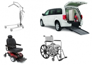 Power Wheelchair, Hoyer Lift, Rehab Shower Chair
